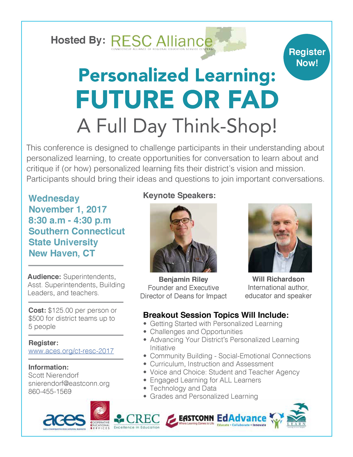 Personalized Learning: FUTURE OR FAD. A Full Day Think-Shop!